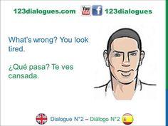 Dialogue 2 Diálogo 2 English Spanish Inglés Español - How are you? - Cómo estás? - Lingoacademy.TV
