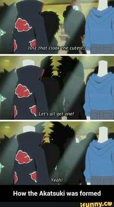 How the Akatsuki was formed, funny, text, comic; Rock Lee and his Ninja Pals