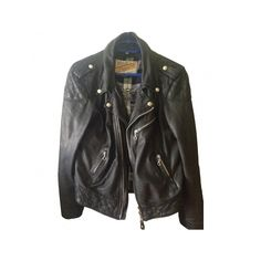 Pre-owned Schott Jackets (13.820 UYU) ❤ liked on Polyvore featuring outerwear, jackets, tops, coats, quilted jackets, real leather jackets, schott nyc jacket, schott nyc and 100 leather jacket