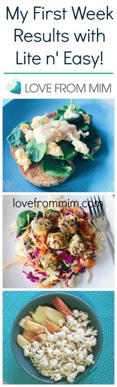 My First Week Results on Lite n' Easy! lovefrommim.com Breakfast Lunch Dinner Snacks Weight Loss Plan Home Delivery Meals Diet…