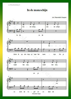 In de maneschijn - Gratis bladmuziek van kinderliedjes in eenvoudige zetting voor piano. Piano leren spelen met bekende liedjes. Easy Ukulele Songs, Printable Sheet Music, Keyboard Piano, Guitar Chords, Piano Music, Recording Studio, Childhood Memories, Poems, Templates