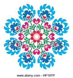 Hungarian Embroidery Design Polish round folk art pattern - Wzory Lowickie, Wycinanka photo - - Millions of Creative Stock Photos, Vectors, Videos and Music Files For Your Inspiration and Projects. Hungarian Embroidery, Folk Embroidery, Learn Embroidery, Indian Embroidery, Bordado Popular, Embroidery Designs, Polish Folk Art, Scandinavian Folk Art, Embroidery Techniques