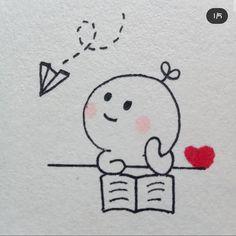 Cute Doodles Drawings, Cute Doodle Art, Doodle Art Designs, Cute Easy Drawings, Mini Drawings, Cute Little Drawings, Cute Cartoon Drawings, Cute Kawaii Drawings, Art Drawings Sketches Simple