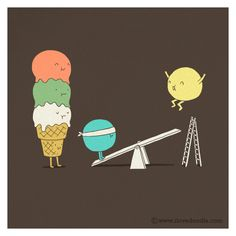Acrobatic ice cream by ILoveDoodle, via Flickr
