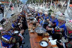 A cultural festival highlighting the Miao ethnic community's delicacies was organized in southwest China's Guizhou Province. The long-table banquet was a part of the community's New Year's celebrations. During the event, locals were decked up in ethnic costumes and jewelry, and also presented their local songs and dances. There is an estimated 9.4 million Miao people in China who live mostly in the country's mountain regions in the south, including Guizhou, Hunan, Yunnan and Sichuan…