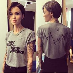 "425.9k Likes, 1,513 Comments - Ruby Rose (@rubyrose) on Instagram: ""When you are so excited to do @sethmeyers and there is a massive wardrobe malfunction so you make…"""