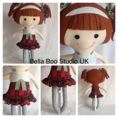 Cloth doll Handmade doll plushie softie ready by BellaBooStudioUK, £20.00