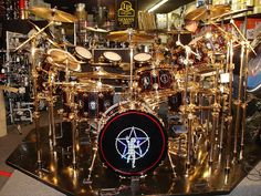 Neil Peart's Drum Kit in Pittsburgh by LerxstKing, via Flickr---Can you imagine!!!!