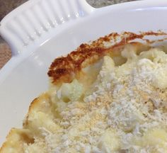 Cauliflower Gratin with Gruyere and Parmesan