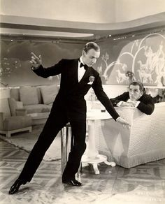 "Plenty of the sets that Fred and Ginger danced in were deco masterpieces, but Jerry and Horace's hotel room at the beginning of ""Top Hat"" might be my favorite. The sets seamlessly combine austere art deco lines and intricate baroque curves from beginning to end, creating a between-the-wars Venice practically from scratch."