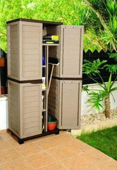 Outdoor Storage Furniture Storage Cabinet Ideas pertaining to size 1259 X 1127 Outdoor Garden Storage Cabinet - There are various kinds of storage Patio Storage, Corner Storage, Garden Storage Cabinet, Cupboard Storage, Storage Cabinets, Kitchen Cabinets, Cupboards, Home Storage Units, Organisation