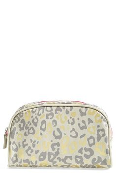 BAMKO 'Cheetah' Canvas Cosmetics Bag (Limited Edition) (Nordstrom Exclusive)