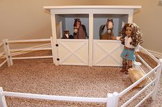 plans to make a totally awesome horse stable for american girl 18 inch dolls