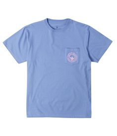 Floral Logo S/S - Cornflower Blue Size: Medium Southern Shirt Company, Simply Southern Tees, Preppy Brands, Sporty Outfits, My Boutique, Cute Tops, Shirts For Girls, Tee Shirts, My Style