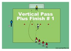 http://www.top-soccer-drills.com/vertical-pass-plus-finish--1.html #FinishingSoccerDrills