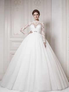 this ones my favorite. Custom size! High quality Romantic Puffy Tulle and organga Ball gown wedding dresses with lace long sleeves 2013 New Arrival