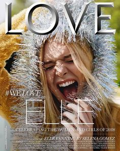 Elle Fanning turns up the shine factor for the Spring-Summer 2018 cover of LOVE Magazine. In front of the lens of Alasdair McLellan, the blonde beauty wears a… Selena Gomez Interview, Love Magazine, Magazine Covers, Dakota And Elle Fanning, Jaime King, Love Cover, Cover Model, Looking For Love, Blonde Beauty