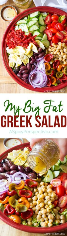 My Big Fat Greek Salad Recipe... You're Welcome. | http://ASpicyPerspective.com