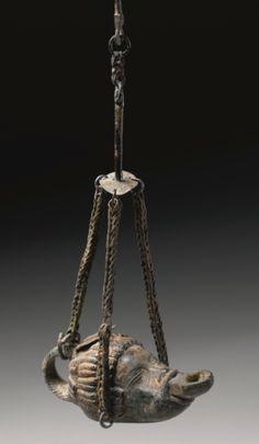 A Roman Bronze Lamp, 1st/2nd Century A.D.  Rome  More @ FOSTERGINGER At Pinterest
