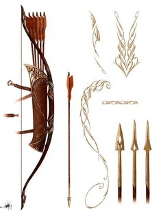 elvenforestworld: Rivendell Bow by Nick Keller - ARCHERY Is The Name Of The G. Mounted Archery, Archery Bows, Archery Quiver, Archery Set, Anime Weapons, Traditional Archery, Weapon Concept Art, Bow Arrows, Bow Hunting