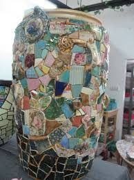 mosaic planters pots - Google Search