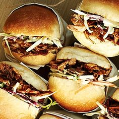 Fan-Favorite Game-Day Dishes | Sponsored: Memphis-Style Pulled Pork Sliders with Old Fashioned Coleslaw | SouthernLiving.com