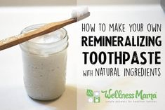 DIY Remineralizing Toothpaste Recipe – This homemade remineralizing toothpaste uses all natural and safe ingredients to naturally clean teeth and provide necessary minerals to the mouth. Source by wellnessmama Toothpaste Recipe, Homemade Toothpaste, How To Make Toothpaste, All Natural Toothpaste, Coconut Oil Toothpaste, Homemade Mouthwash, Herbal Toothpaste, Homemade Deodorant, Homemade Shampoo
