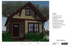 No. 32 - The Alberta (Free small house plan) — THE small HOUSE CATALOG