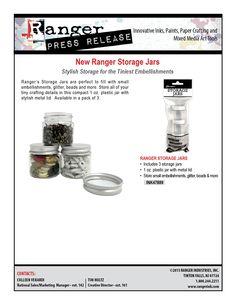 Ranger Storage Jars 2015 | www/rangerink.com