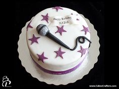 Karaoke Birthday Cake by Cakes Crafters, via Flickr