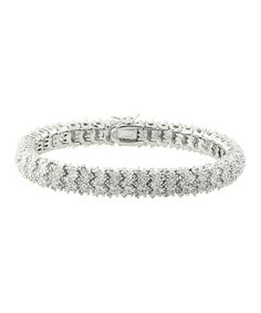 Diamond & Silver Pavé Zigzag Bracelet on sale $69.99 Reg. $250.00 ~ many more choices http://www.zulily.com/invite/salemebrands