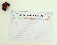 [freebie] Vuelta al cole: plantilla imprimible para el horario escolar