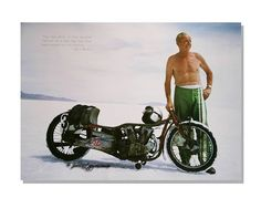 Finally Watched World's Fastest Indian - this is the man himself Burt Munro . - Jim Glover - - Finally Watched World's Fastest Indian - this is the man himself Burt Munro . Motorcycle Racers, Motorcycle Travel, Motorcycle Style, Women Motorcycle, Motorcycle Helmets, Vintage Bikes, Vintage Motorcycles, Custom Motorcycles, Indian Motorcycles