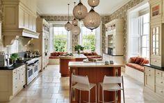 französischer Stil Küche Eichenholz