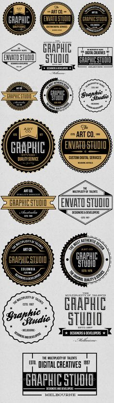 Color Badges  Logos Template Psd  Badges  Sticker Template