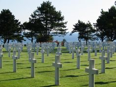 American Cemetery in Normandy, France/Omaha Beach. Walking the beaches of the landings and visiting the cemetery. Normandy France, Normandy Beach, Military Cemetery, American Cemetery, D Day Landings, Rouen, Travel Memories, Vacation Places, Pilgrimage