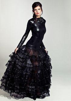 Patrice Catanzaro Marine Lacquer Dress in black | Patrice Catanzaro Fetish Wear & Fetish Dresses
