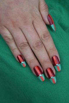 sometimes one stone is all you need More Nail Art http://ideasforbeautypic.com/nail-art