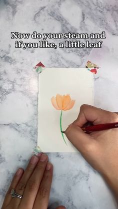 Painting Techniques Canvas, Diy Painting, Painting & Drawing, Watercolor Flowers, Watercolor Paintings, Guache, Wow Art, Tombow, Diy Canvas Art