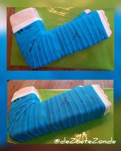 Broken arm cake