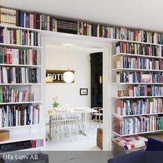 Bücherregal - tolle wohnliche Wandgestaltung mit der Lieblingslektüre! #books #living #interior #shelves