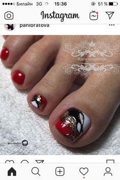 Pedicure Colors, Pedicure Nails, Mani Pedi, Paw Patrol Party Decorations, Fall Eye Makeup, Feet Nails, Toe Nail Designs, Toe Nail Art, Nails Inspiration