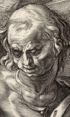Detail: Hendrick Goltzius (1558–1617) Apostle Simon, 1589