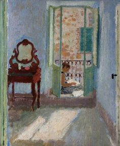 alberto morrocco(1917–98), the blue bedroom, 1954. oil on plywood, 56.1 x 46 cm. glasgow museums, uk  http://www.bbc.co.uk/arts/yourpaintings/paintings/the-blue-bedroom-85409