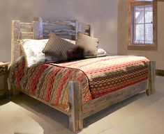 King Bed - Western Bed - Wheel Wagon Bed - SWB172 | Wood doors ...