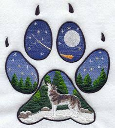 wolf cross stitch patterns free - Google Search