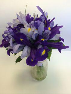 Springtime iris bouquet #wedding #bouquet #iris Pod Shop Flowers wedding designs | Flickr - Photo Sharing!