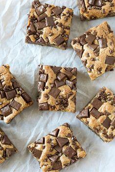 Chocolate Chunk Chocolate Chip Cookie Bars