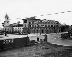 LeConte and Westwood Blvd. looking southwest from entrance to UCLA campus, 1932
