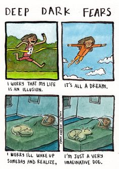 Deep Dark Fears. A man illustrates peoples irrational fears. Very interesting and awesomely creepy.